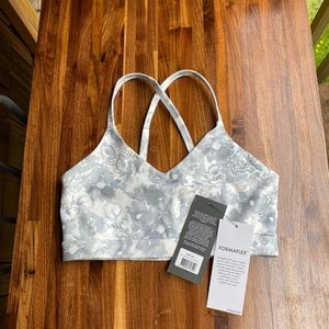 Belle grey and white glyder workout bra